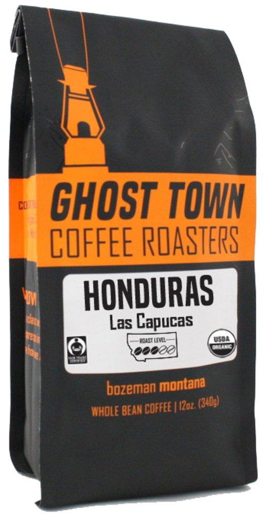"""B07DT76K9J Ghost Town Coffee Roasters """"Honduras Las Capucas"""" Medium Roasted Fair Trade Organic Shade Grown Whole Bean Coffee - 5 Pound Bag 61QjALhe24L"""