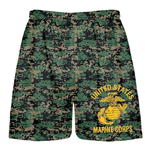 LightningWear Youth Marine Corps Shorts Gold Logo - Camoufla