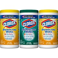 Clorox Disinfecting Wipes Value Pack, Crisp Lemon and Fresh Scent - 3 Pack - 75 Each (Packaging May Vary)