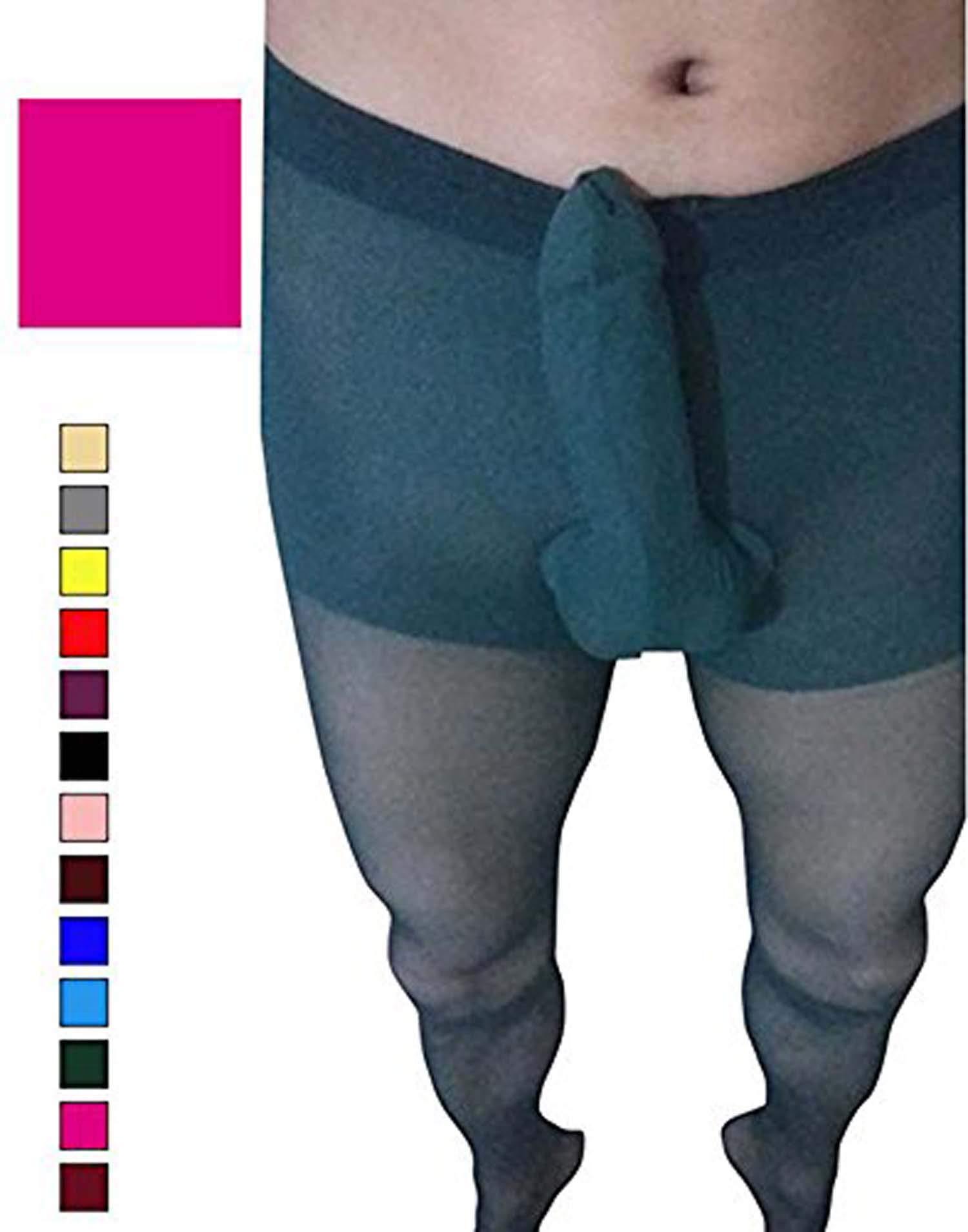 HIMEALAVO Men Pantyhose Gay Silky Stockings Mens Pantyhose