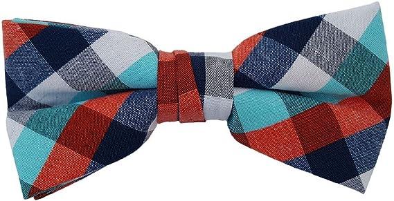 HISDERN Kids Bow Tie Boys Handmade Adjustable Pre-Tied Pattern Optional Bowtie