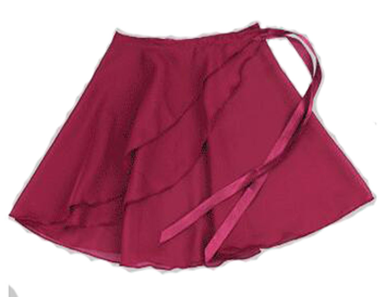 JXUFUFOO Big Girls Asymmetric Ballet Dance Wrap Skirt Chiffon Black TUTU08