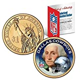 DALLAS COWBOYS NFL 24KT GOLD Presidential $1 COIN! COA & DISPLAY STAND!