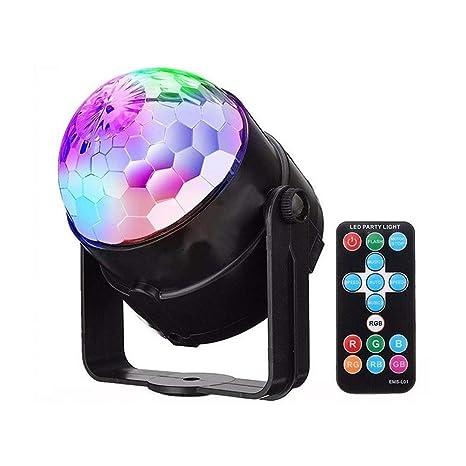 Luces de fiesta, luces de escenario DJ Disco Bola Proyector RGB ...