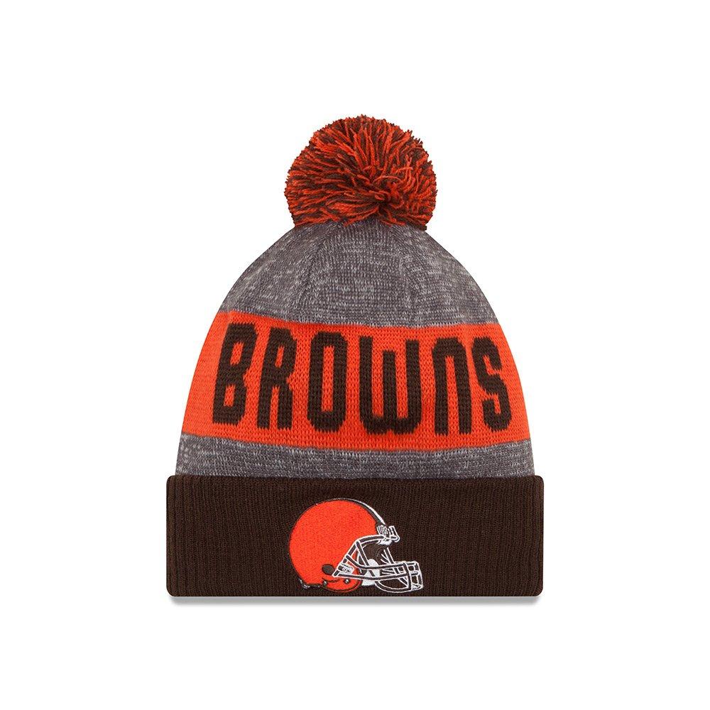 Cleveland Browns New Era 2016 NFL Sideline On Field Sport Knit Hat - Brown Cuff 11289200