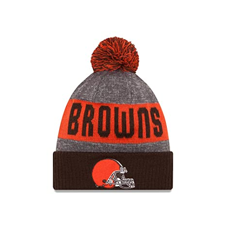 pretty nice c1e9c 822cb Amazon.com   Cleveland Browns New Era 2016 NFL Sideline On Field Sport Knit  Hat - Brown Cuff   Sports   Outdoors