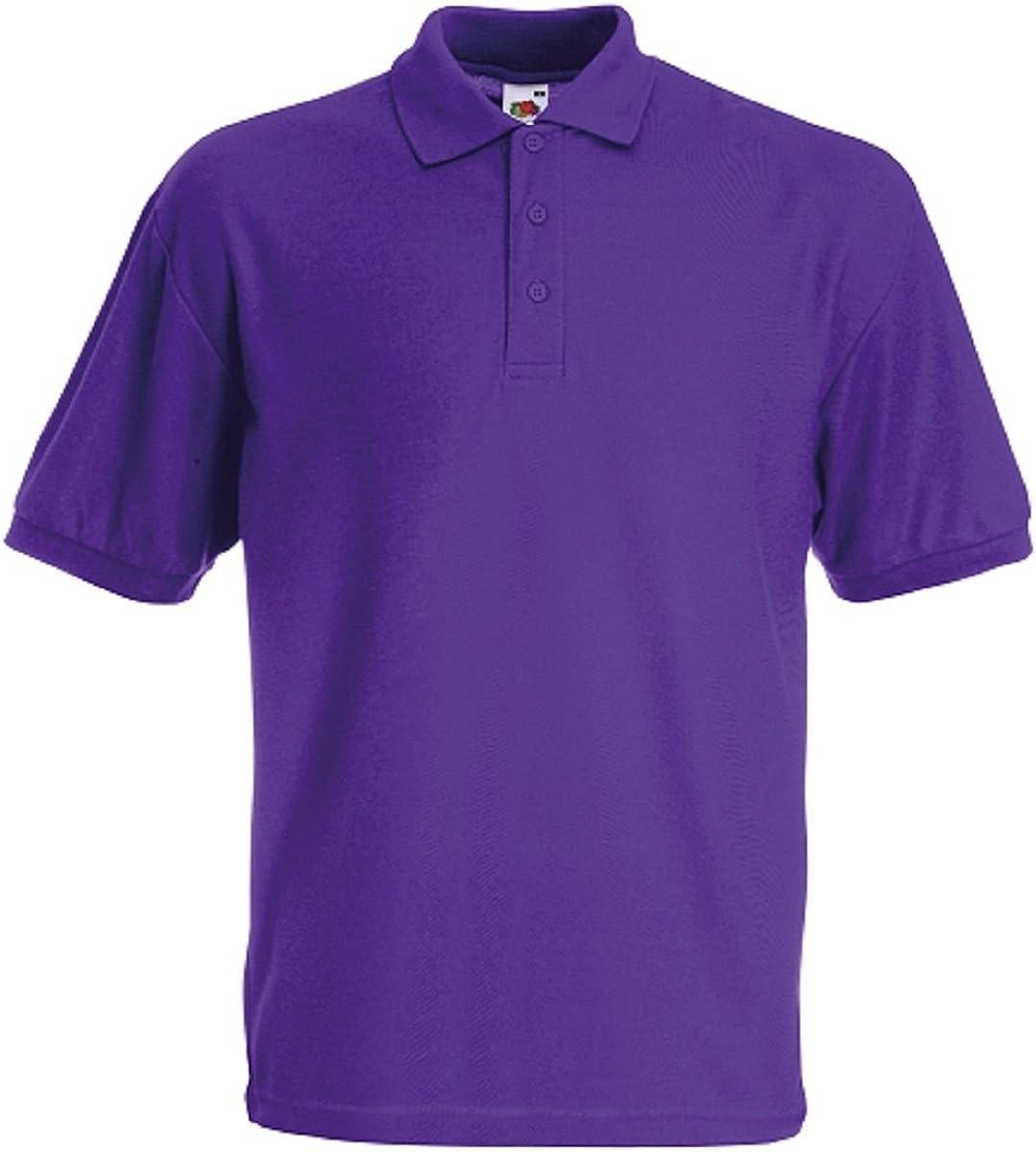 Fruit of the Loom Pique Polo - Camiseta para niño Pack de 3 violetas. 5-6 Años: Amazon.es: Ropa y accesorios
