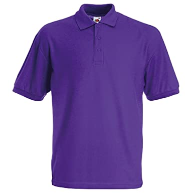 Fruit of the Loom - Polo - para niño Morado 3 PackPurple Talla ...