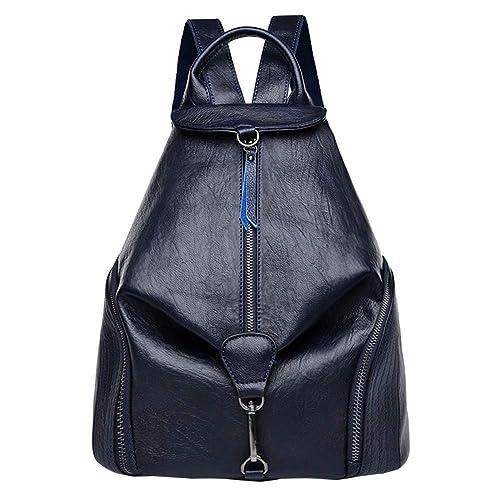 a309fcd366f3 DSLONG Luxury Designer Women Backpack Purse Bag Multifunction Leather  Travel Rucksack Handbag Purse Ladies (Blue