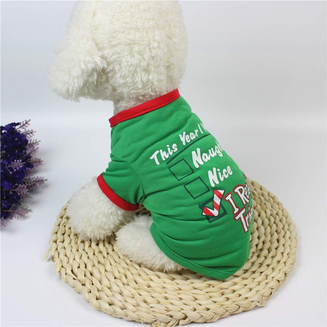 Smoro Vestiti per Cani da Compagnia Costume di Natale Vestiti Simpatici Cartoni Animati per Abiti da Cane di Media Taglia