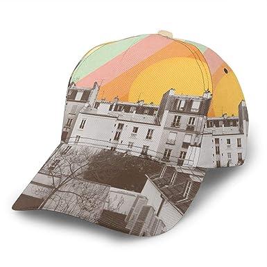 Rainbow Sky Above Paris Gorra de béisbol Ajustable para Mujer y ...