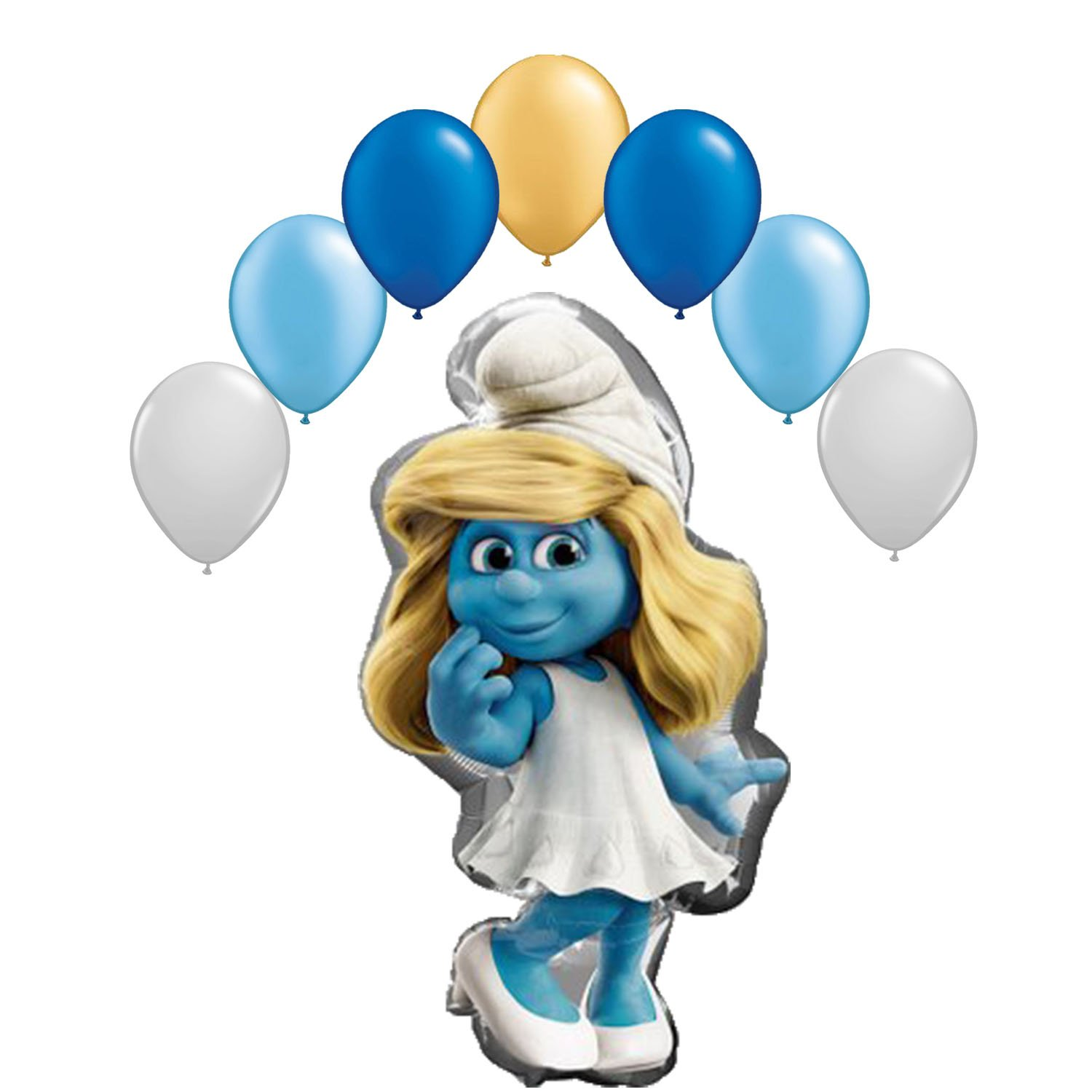 The Smurfs Smurfetteバルーンブーケ8 pc   B01BOA1KB2