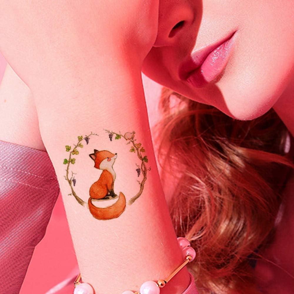 tzxdbh 5 Unids Linda Flor Zorro Ardilla Animales Tatuajes ...