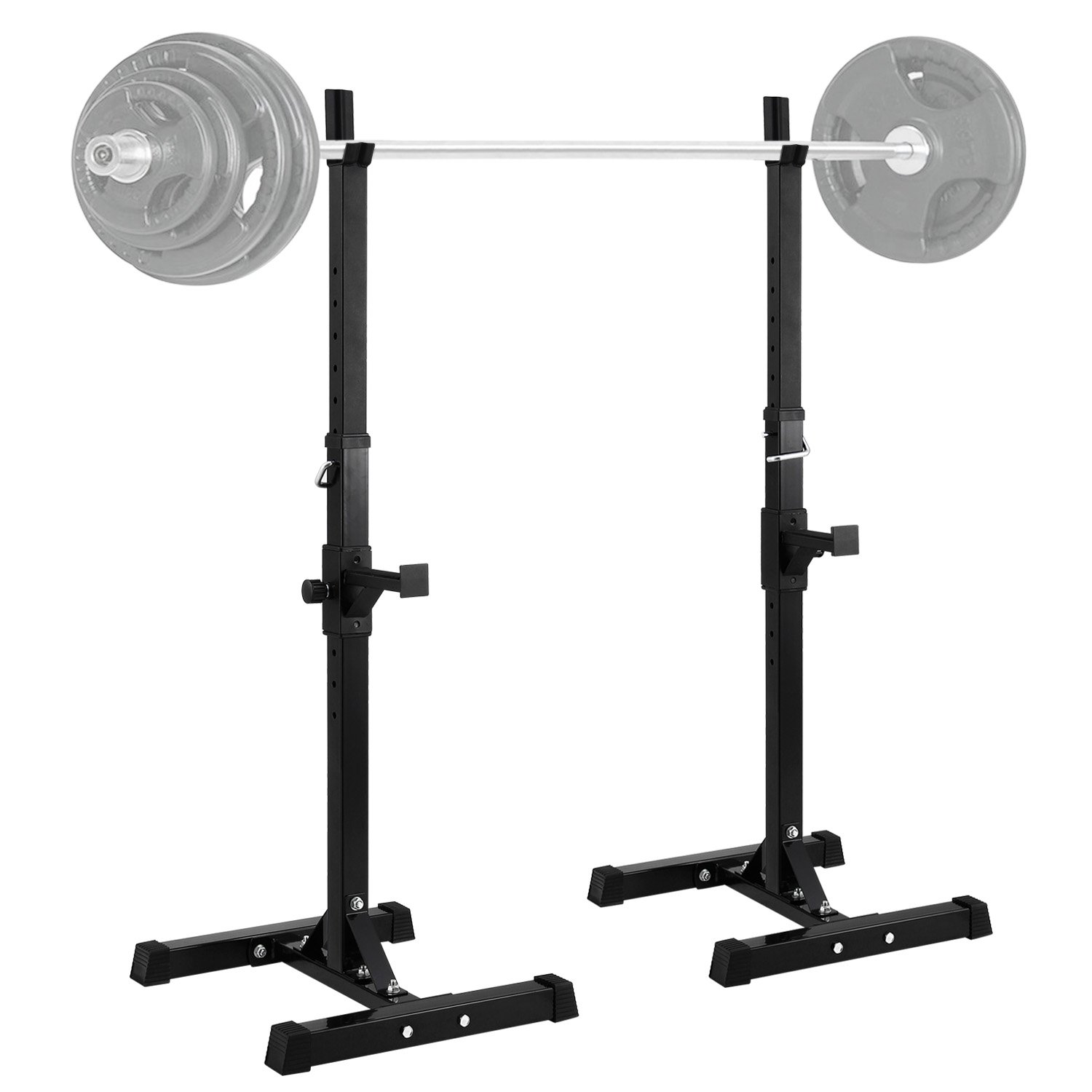 Safety Stands For Bench Press Part - 48: Amazon.com : Ollieroo Barbell Rack 2PCS Gym Family Fitness Adjustable Squat  Rack Independent Weight Lifting Bench Press Stands : Sports U0026 Outdoors