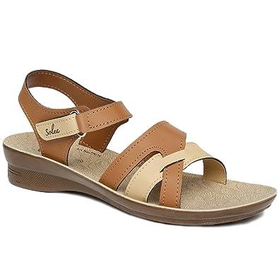 d33222c56d130 PARAGON SOLEA Women's Tan Sandals: Buy Online at Low Prices in India ...
