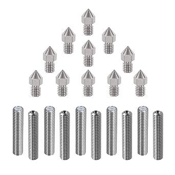 HAWKUNG 20 Piezas Impresora 3D Boquilla extrusora de acero ...