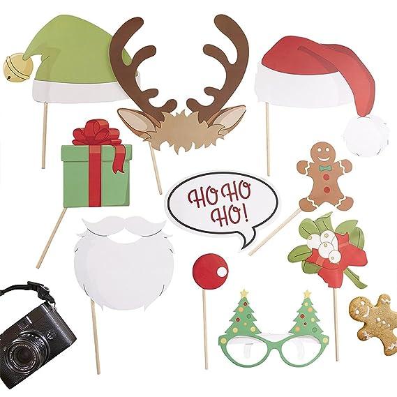 Weihnachtliches Photo Booth, Requisiten, Fotozubehör, Party ...