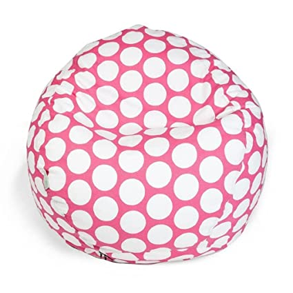 Cool Amazon Com Pink Large Polka Dot Pattern Bean Bag Geometric Inzonedesignstudio Interior Chair Design Inzonedesignstudiocom