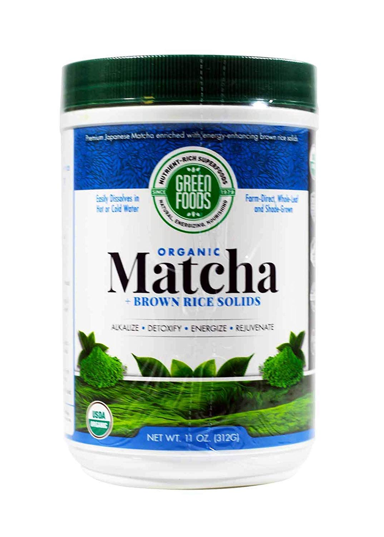 Green Foods Corporation, Organic Matcha Green Tea, 11 oz (312 g) Green Foods Corporation, Organic Matcha Green Tea, 11 oz (312 g) - 2pcs by Green Foods