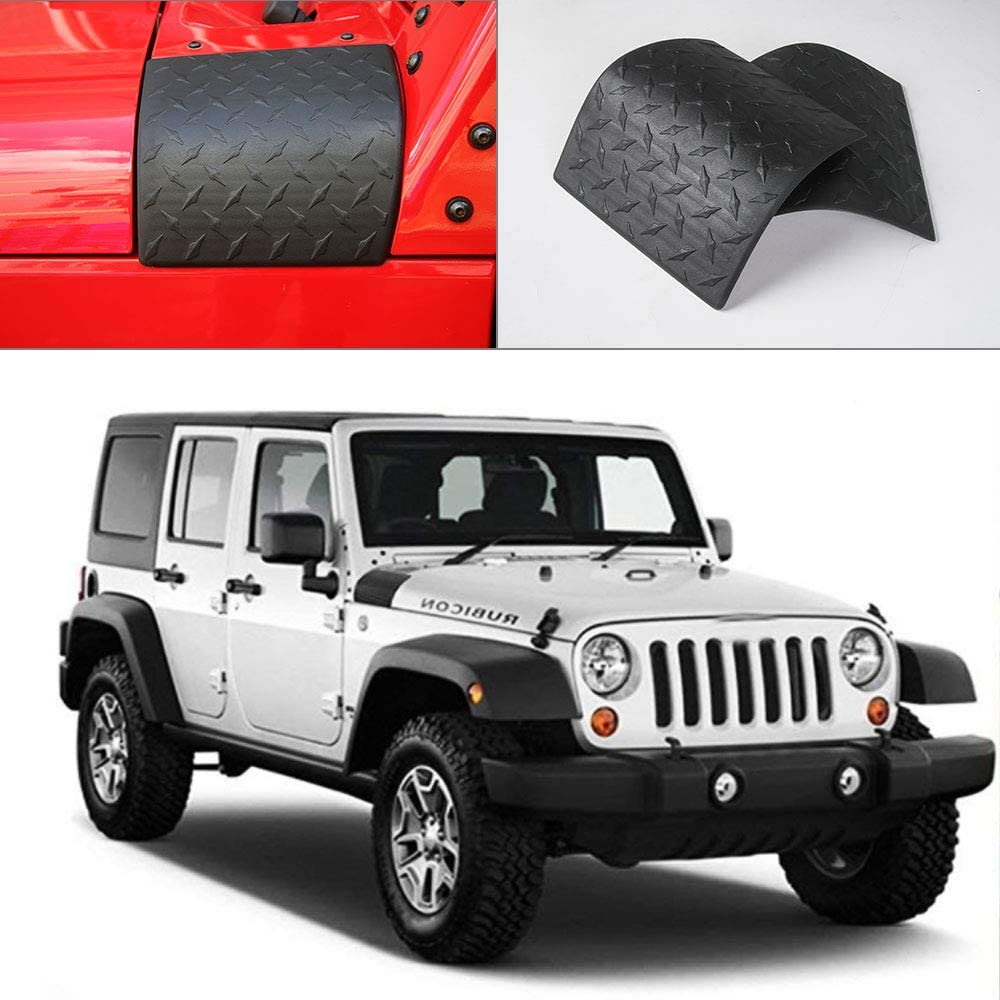 Landrol Black Cowl Body Armor Outer Cowling Cover Corner Guards replacement for 2007-2017 Jeep Wrangler JK Rubicon Sahara Unlimited 2 /& 4 Doors