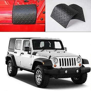 Jeep Wrangler Accessories 2017 >> Jecar Black Cowl Armor Cowl Cover Body Armor Corner Guards Accessories For 2007 2017 Jeep Wrangler Jk Jku Rubicon Sahara Sport X Unlimited 2 4 Door
