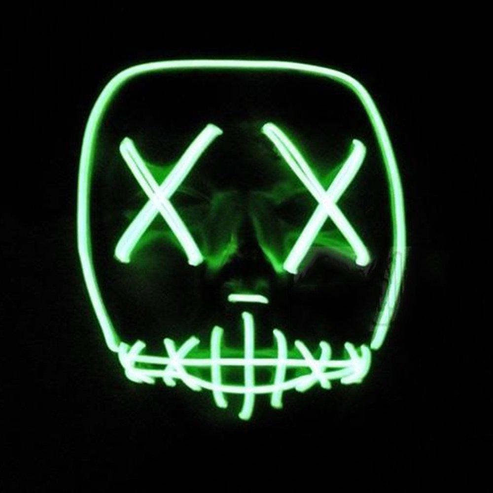 Halloween LED Máscaras,Mascaras de Halloween,Craneo Esqueleto Mascaras,Para la Navidad Halloween Cosplay Grimace Festival Party Show, Batería ...