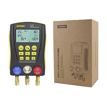 Refrigeration Digital Manifold Gauge Meter HVAC Vacuum Pressure Temp Tester I8B2
