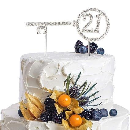 Amazon Happy To 21st Key Rhinestone Crystal Silver Twenty One