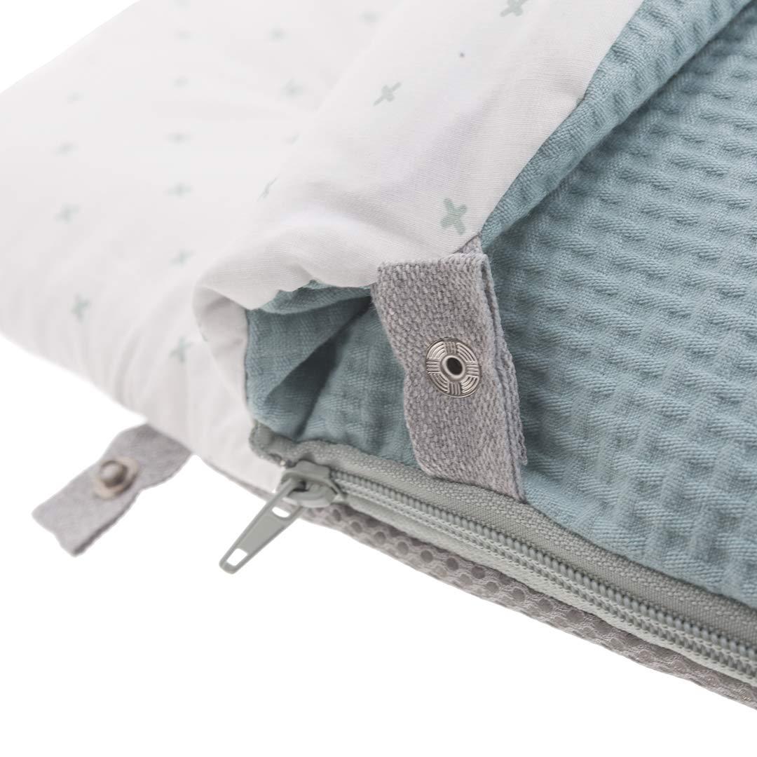 Kiwisac Saco de Entretiempo UniversalSweet Mint para Carro de Beb/é con Cremallera Lateral Saco Silla de Paseo Color Menta 94x45 cm.