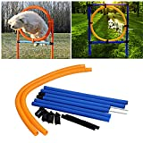 Awtang Dog Agility Training Obedience Jump Hurdle Pet Sports Equipment Training Toys Dogs High Jump Outdoor Jumping Through a Circle