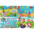 Wooden Jigsaw Puzzles For Kids Age 3 5 Year Old 30 Piece Colorful Wooden Puzzles For Toddler Children Learning Educational Puzzles Toys For Boys And Girls 4 Puzzles