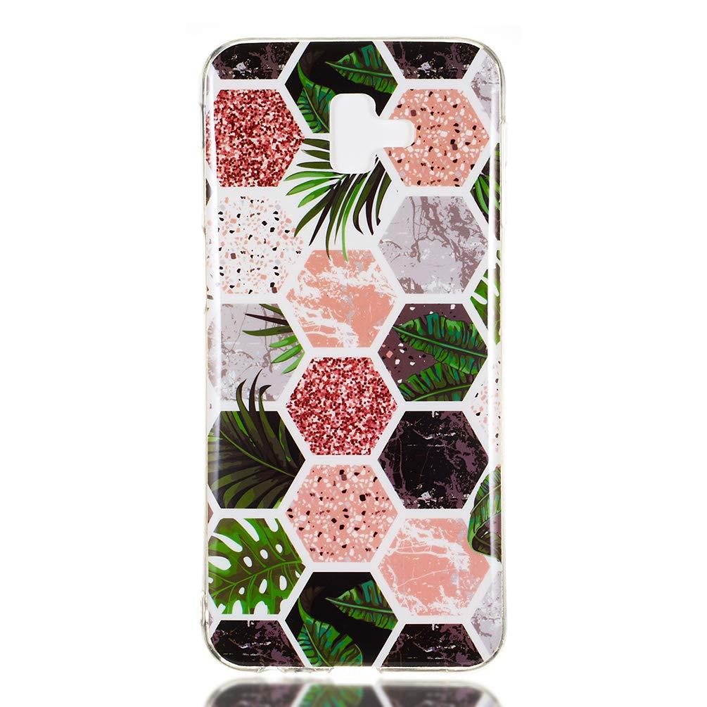2018//J6 Prime//J6 Plus Silicone Housse Protection Bumper Antichoc Accessoire Gel Souple TPU Case Cover Coque en TPU Peinte proc/éd/é IMD For/êt Tropicale GuardGal Coque pour Samsung Galaxy J6