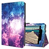 Ztotop Folio Case for Amazon All-New kindle Fire HD 10 Tablet (2017 Release, 7th Generation) - Smart Cover Slim Folding Stand Case with Auto Wake / Sleep,Galaxy