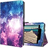 Ztotop Folio Case for All-New Fire HD 10 Tablet (2017 Release, 7th Generation) - Smart Leather Cover Slim Folding Stand Case with Auto Wake/Sleep for Fire HD 10.1 Inch Tablet.Galaxy