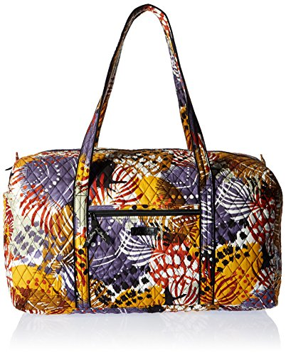 Women's Large Duffel, Signature Cotton, Painted Feathers by Vera Bradley (Image #1)