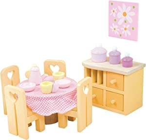 Sugar Plum Dining Room Set Premium Wooden Toys for Kids Ages 3 years & Up