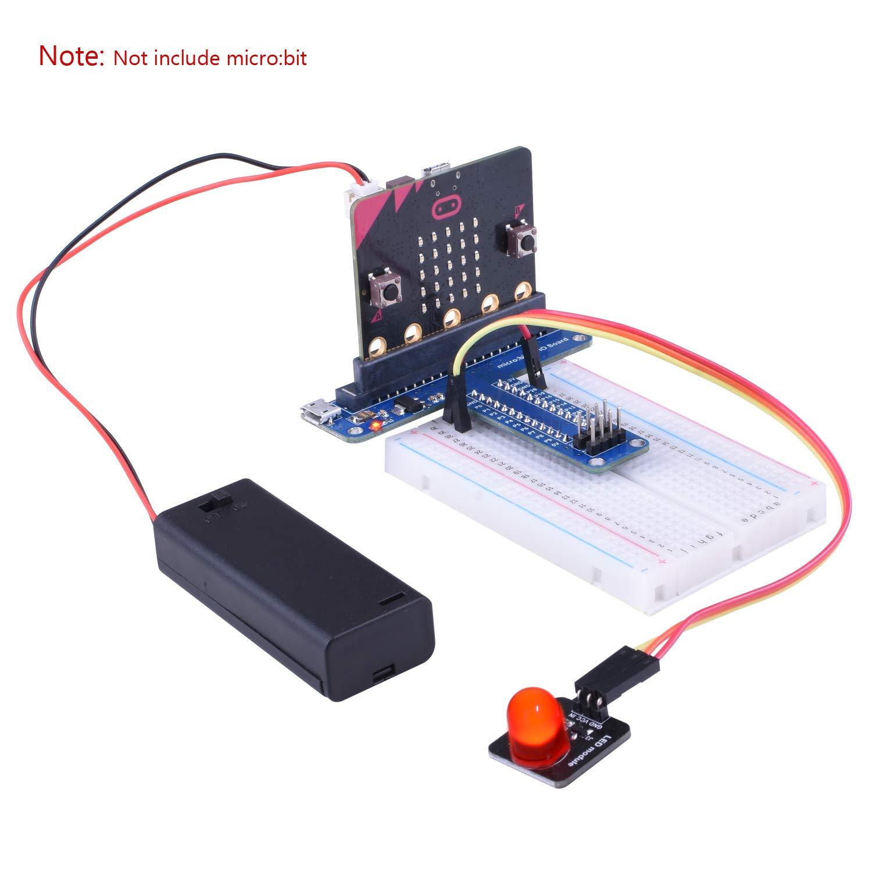 Flash-Licht-Kits 18 LEDs herzförmige rot blinkende elektronische Teile GeschenkZ