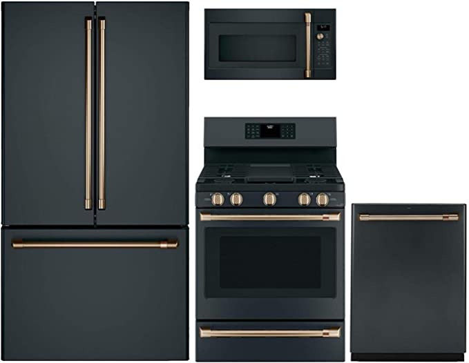 Amazon.com: GE Cafe 4 Piece Kitchen Package CWE23SP3MD1 36 ...