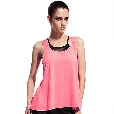 b98185544da733 henglong Open Back Sport Tank Tops for Women Sleeveless Bandage Hem Fitness  T-Shirts (