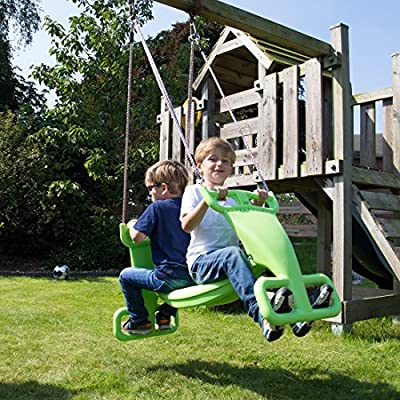 Ultrakidz Double Swing Seat Swing Boat for 2 children weather-resistant Applegreen