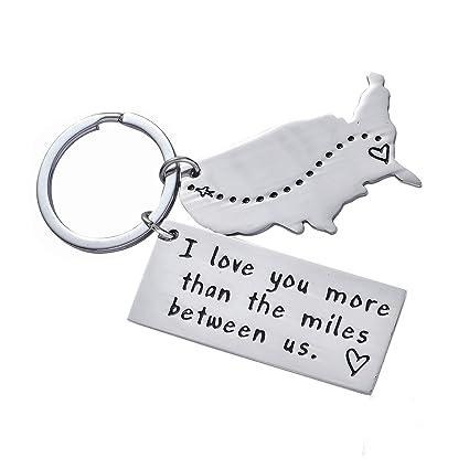 Amazon com: BESPMOSP I Love You More Than The Miles Between Us