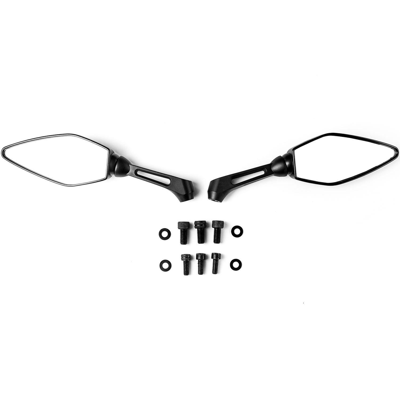Krator Universal Black Motorcycle Mirrors for Kawasaki EN Vulcan 450 500 LTD