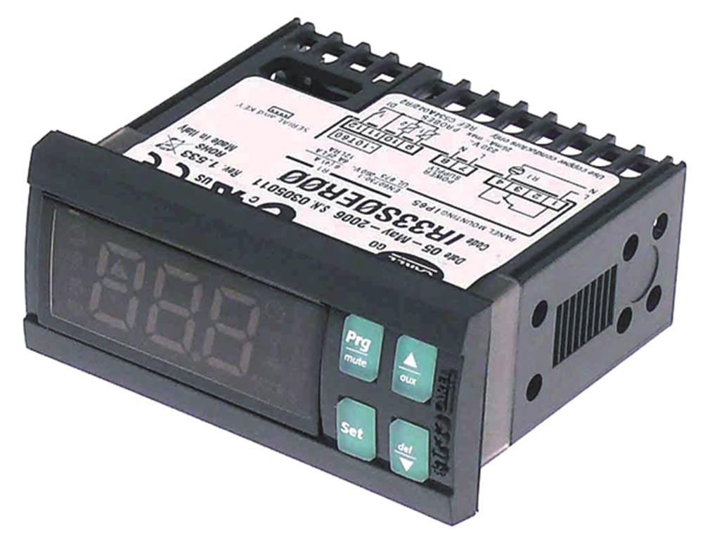 CAREL IR33S0ER00 Elektronikregler 230V AC f/ür NTC 50 bis 150/°C Abma/ße 71x29mm Anzeige 3-stellig Einbauma/ß 71x29mm NTC NTC DI