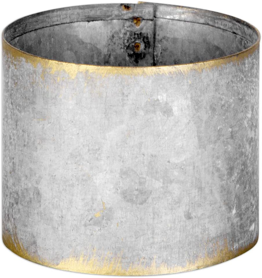 Farmhouse Style Napkin Ring Metal Bands for Wedding Christmas Restaurant and Home Table Settings Thanksgiving Bulk Set of 12 Napkin Holders Koyal Wholesale Galvanized Metal Napkin Rings