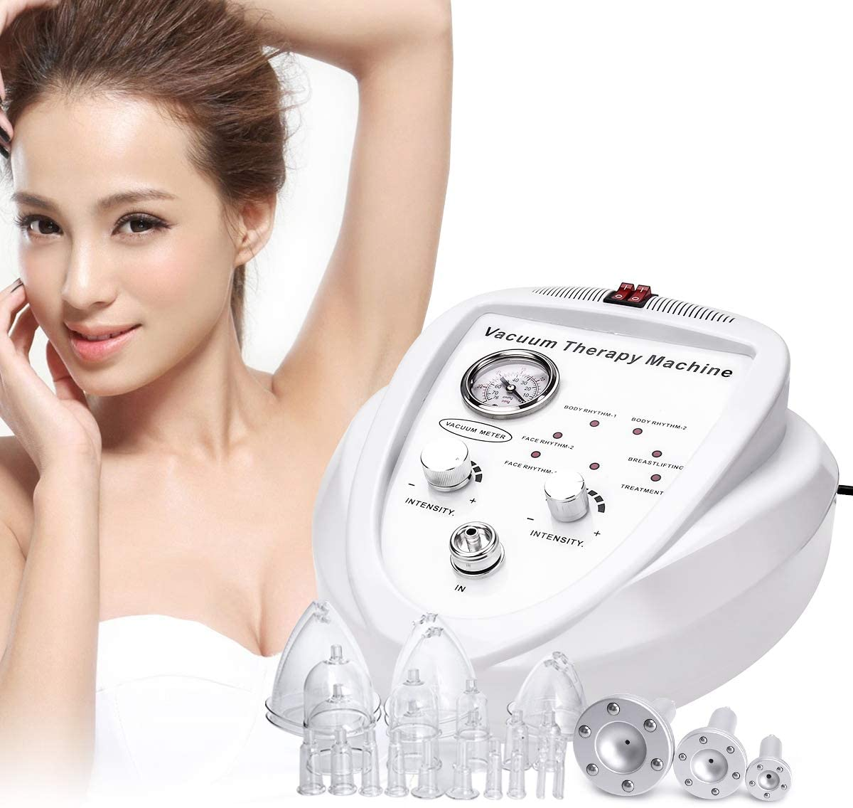 Titoe Vacuum Therapy Massage Body Shaping Lymph Drainage Spa Skin Rejuvenation Machine with 24 Cups and 3 Pumps