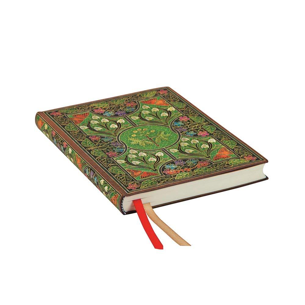 180 x 130 mm horizontal Dezember 2020 | Midi Paperblanks 18-Monats-Planer /& Kalender mit Flexi-Softcover Bl/ühende Poesie Woche f/ür Woche Juli 2019
