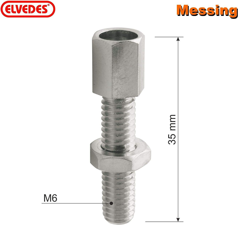 V/élo Couplage Frein M6 35 mm Long Elvedes 2 X ELV1072 C/âble Vis de R/églage