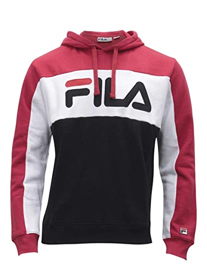 4adf22bd8fcd Fila Men's Todd Hoodie Shirt, Chinese Red, White, Black, 4XL at Amazon Men's  Clothing store: