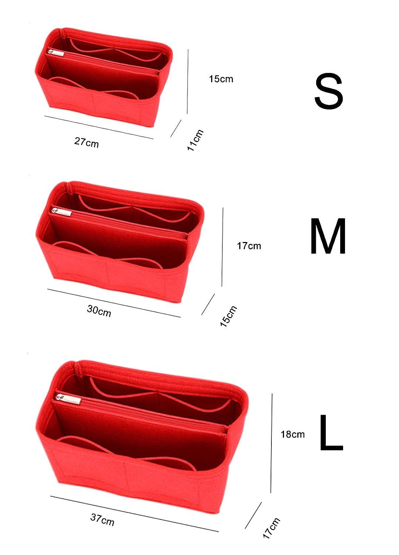 Organizer per borse in feltro borsa con inserto per borsa con inserto in borsa robusta S 7 tasche marrone