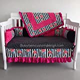 Regular Bedding Set ''Light Pink and Grey Damask''